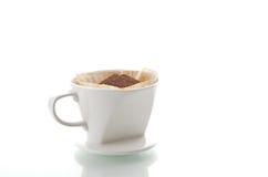 Taza de café del goteo Foto de archivo