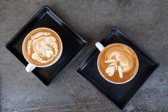 Taza de café del latte Fotografía de archivo
