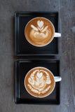 Taza de café del latte Fotos de archivo