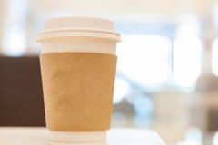 Taza de café disponible imagenes de archivo