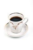 Taza de café en el fondo Fotografía de archivo libre de regalías