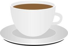 Taza de café en el fondo blanco ilustración del vector
