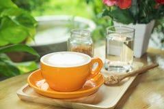 Taza de café en el vector Imagen de archivo libre de regalías