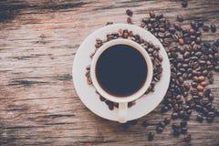 Taza de café en estilo del vintage Imagen de archivo