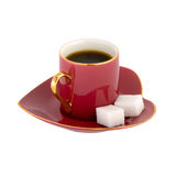 Taza de café en forma de corazón Imágenes de archivo libres de regalías