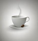 Taza de café en Gray Background Foto de archivo libre de regalías