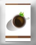 Taza de café en la hoja blanca en el vector EPS 10 fotos de archivo libres de regalías