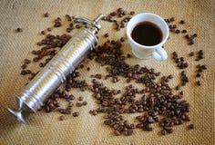 Taza de café fresco Foto de archivo libre de regalías