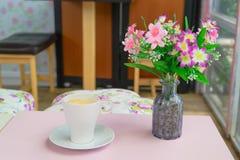 Taza de café - imágenes del estilo del efecto del vintage Foto de archivo