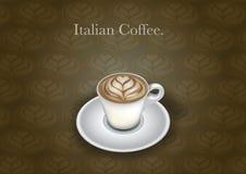 Taza de café italiana ilustración del vector
