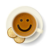 Taza de café para el buen humor Foto de archivo libre de regalías