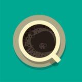 Taza de café por la mañana con espuma Imagenes de archivo