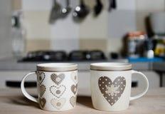 Taza de café preciosa del vintage Imagen de archivo