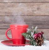Taza de café roja Fotos de archivo libres de regalías
