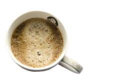 Taza de café sobre el fondo blanco Fotos de archivo libres de regalías