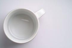 Taza de café vacía Fotos de archivo