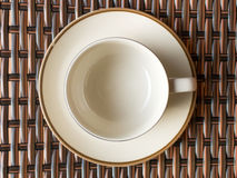 Taza de café vacía Imagenes de archivo