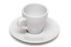 Taza de café vacía Fotos de archivo libres de regalías