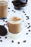 Taza de café y de galletas Fotos de archivo