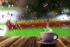 Taza de café y de ventana Fotos de archivo