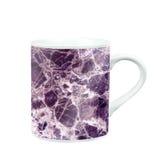 taza de café con la textura de mármol del modelo regalo y recuerdo con c Imagen de archivo