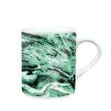 taza de café con la textura de mármol del modelo regalo y recuerdo con c Imagenes de archivo