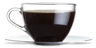 Taza de café de cristal Foto de archivo libre de regalías