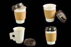 Taza de café de papel Imagen de archivo