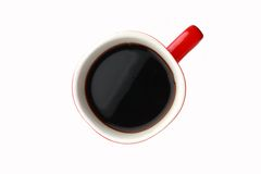 Taza de café roja Imagen de archivo