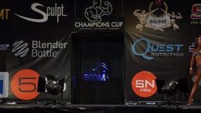 Taza de campeones del levantamiento de pesas almacen de video