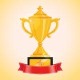 Taza de campeones del oro Fotografía de archivo libre de regalías