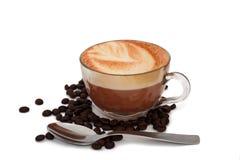 Taza de cappuccino Imagen de archivo libre de regalías