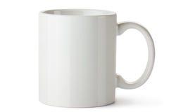 Taza de cerámica blanca imagenes de archivo