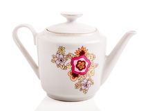 Taza de cerámica retra Fotografía de archivo libre de regalías