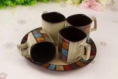 Taza de cerámica exquisita Fotografía de archivo