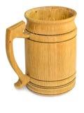 Taza de cerveza de madera Imagen de archivo libre de regalías