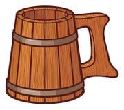 Taza de cerveza de madera Fotografía de archivo