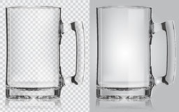Taza de cerveza transparente Imagenes de archivo