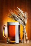 Taza de cerveza y de trigo Imagenes de archivo