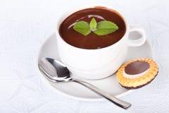 Taza de chocolate caliente con la menta. imagen de archivo libre de regalías