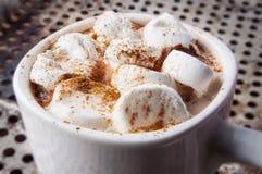 Taza de chocolate caliente con las melcochas Foto de archivo libre de regalías