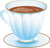 Taza de chocolate caliente o café o té Fotografía de archivo libre de regalías