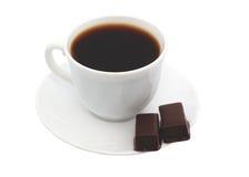 Taza de chocolate del café. fotografía de archivo
