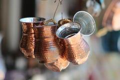 Taza de cobre del vintage Imagen de archivo
