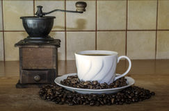 Taza de coffe foto de archivo