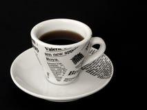Taza de Coffe en negro Fotos de archivo