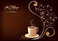 Taza de Coffe en un fondo negro Imagen de archivo