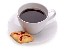 Taza de coffe y de galletas Fotografía de archivo libre de regalías