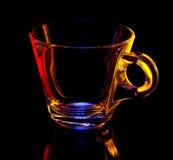Taza de cristal Fotografía de archivo libre de regalías