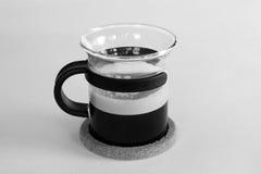 Taza de cristal con café Imagen de archivo libre de regalías
